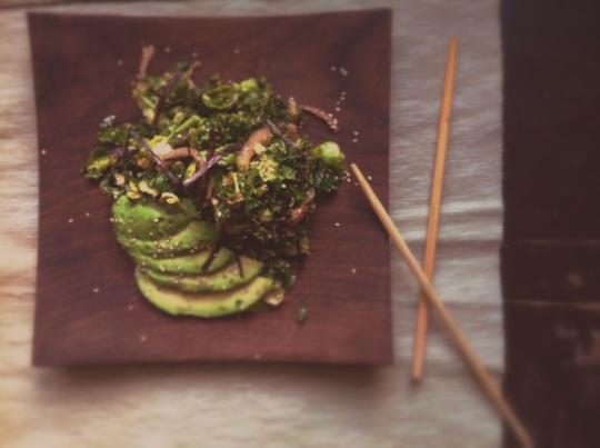 Salade de kale et choux de Bruxelles 2