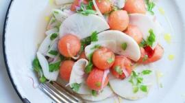 salade rabiole melon coriandre oignons lime jalapenos | chantez la pomme